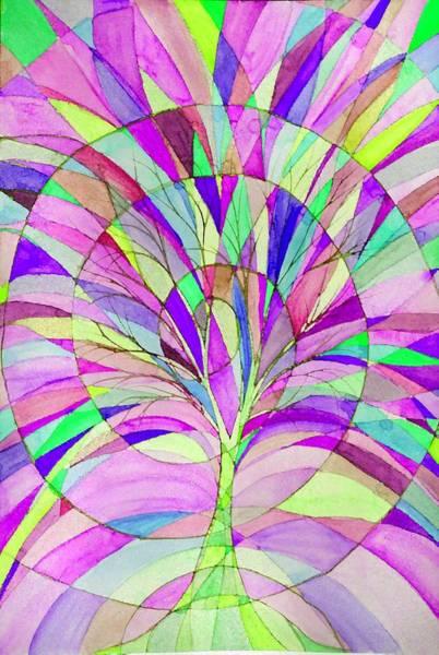 Vitrage Wall Art - Digital Art - Tree Of Life by Sandrine Kespi