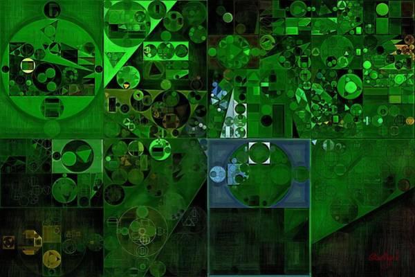 Ferns Digital Art - Abstract Painting - Dark Jungle Green by Vitaliy Gladkiy