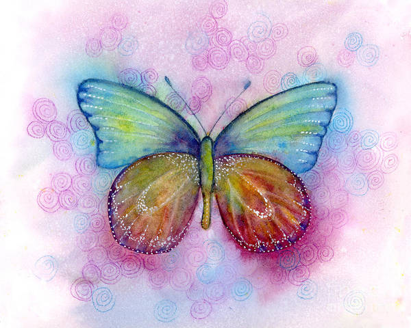 Wall Art - Painting - 35 Blessings Butterfly by Amy Kirkpatrick