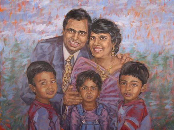 Painting - Happy Family by Gary M Long