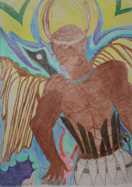 Painting - St Michael The Archangel by Gloria Ssali