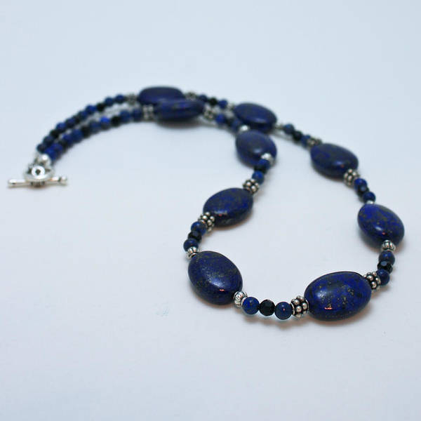 Sterling Silver Jewelry Wall Art - Jewelry - 3553 Lapis Lazuli Necklace And Earrings Set by Teresa Mucha