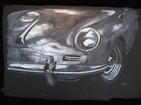 Painting - 356 Porsche Front by Richard Le Page