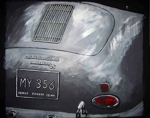 Painting - 356 Porsche Rear by Richard Le Page