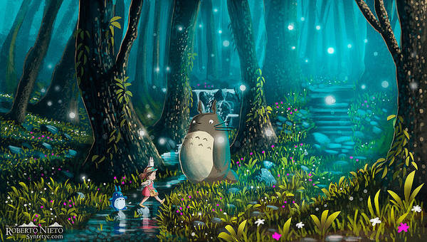 Wall Art - Digital Art - 35733 My Neighbor Totoro by Mery Moon