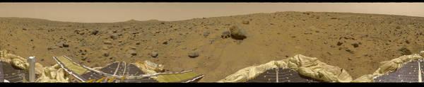 Photograph - 360 Degree Panorama Mars Pathfinder Landing Site by Artistic Panda