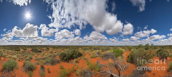 Photograph - 360 Of Clouds Over Desert by Yva Momatiuk John Eastcott