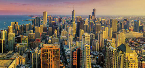 Photograph - 360chicago Golden Minute by Scott Campbell