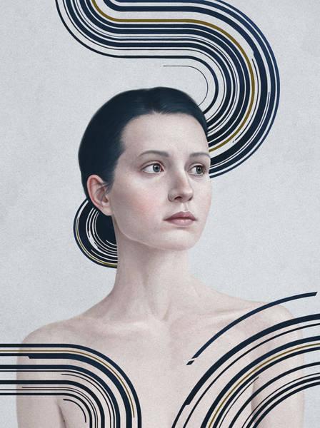 Female Portrait Painting - 365 by Diego Fernandez