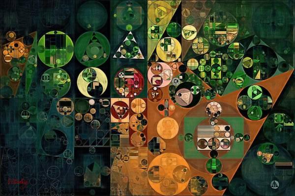 Wall Art - Digital Art - Abstract Painting - Dark Jungle Green by Vitaliy Gladkiy
