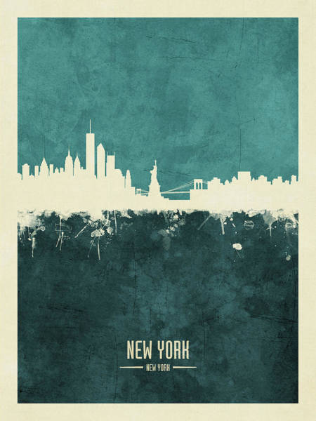 Wall Art - Digital Art - New York Skyline by Michael Tompsett