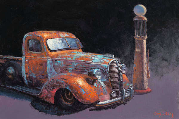 Old Car Wall Art - Painting - 38 Fat Fender Ford by Cody DeLong
