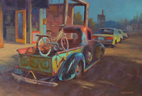 Wall Art - Painting - 38' Ford In Jerome, Az by Cody DeLong