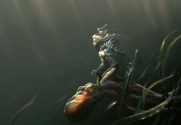 Fractal Digital Art - Ocean by Super Lovely