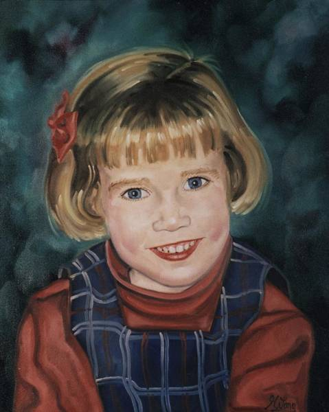 Painting - Portrait Of Child by Gary M Long