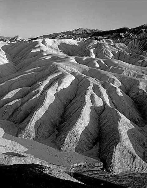 Photograph - 3a6830 Bw View From Zabriskie Point by Ed Cooper Photography