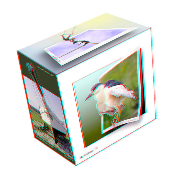 Anaglyph Photograph - 3d Cube - Use Red-cyan 3d Glasses by Brian Wallace