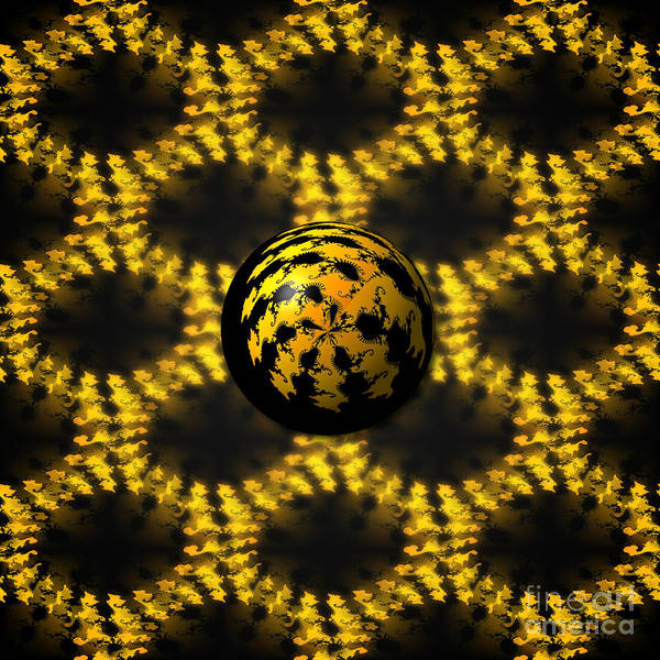Digital Art - 3d Fractal Ball by Henrik Lehnerer
