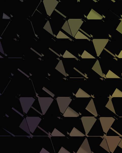Wall Art - Digital Art - 3d Futuristic Geo Bg by Amir Faysal