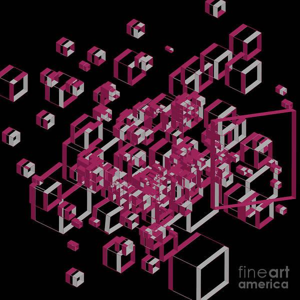 Wall Art - Digital Art - 3d Futuristic Geo Lines by Amir Faysal