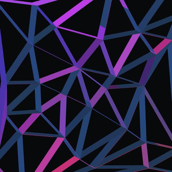 Wall Art - Digital Art - 3d Futuristic Geo Lines II by Amir Faysal