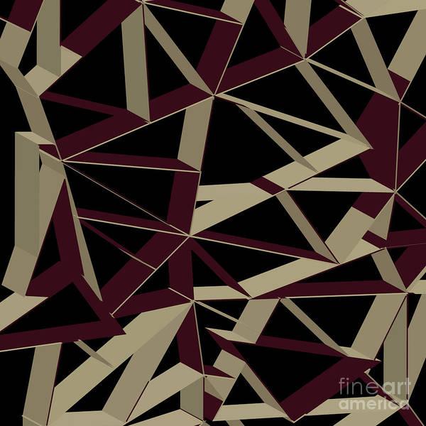 Wall Art - Digital Art - 3d Futuristic Geo Lines IIi by Amir Faysal