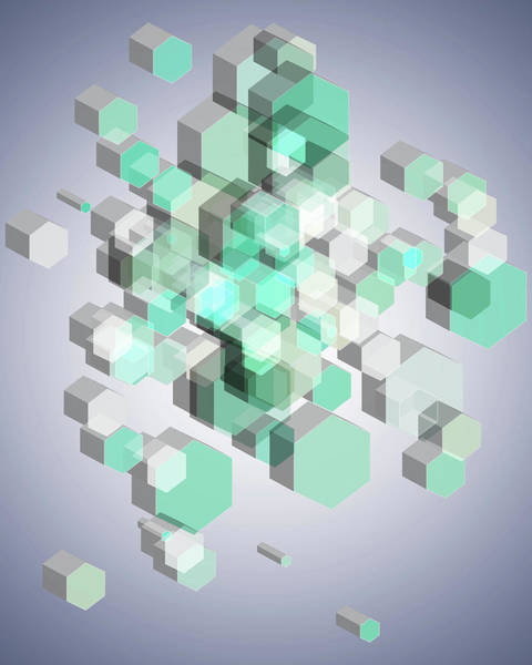 Wall Art - Digital Art - 3d Hexagon Background by Amir Faysal