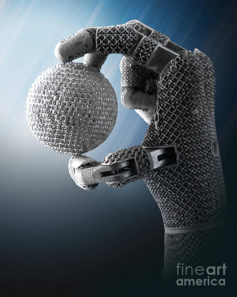 Photograph - 3d Printing Additive Robotic Hand by Science Source