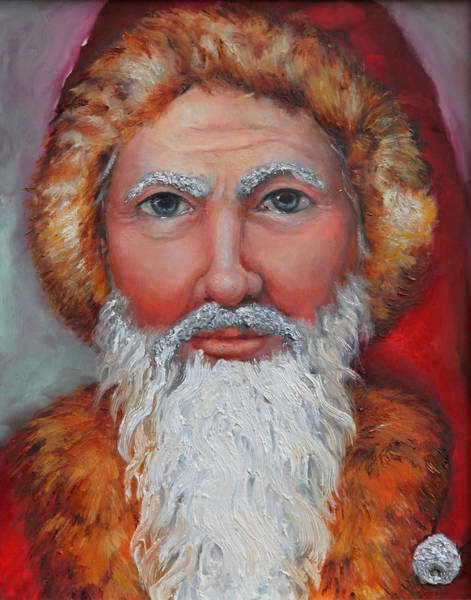 Wall Art - Painting - 3d Santa by Portraits By NC