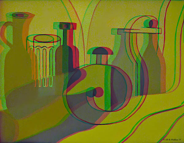 Stereoscopy Digital Art - 3d Stereo Cubism - Use Red-cyan 3d Glasses by Brian Wallace