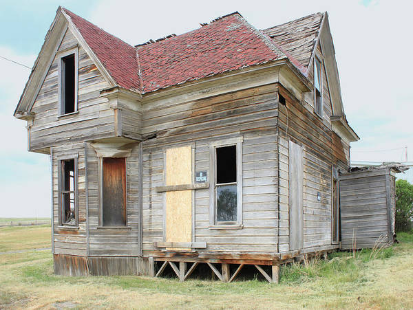Photograph - 3da5785 Abandoned House In Hardman Ghost Town by Ed Cooper Photography