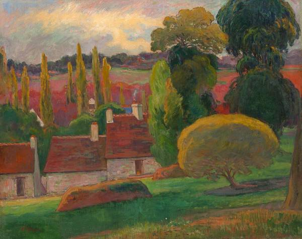 Painting - A Farm In Brittany by Paul Gauguin