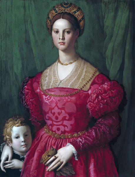 Painting - A Young Woman And Her Little Boy by Agnolo Bronzino