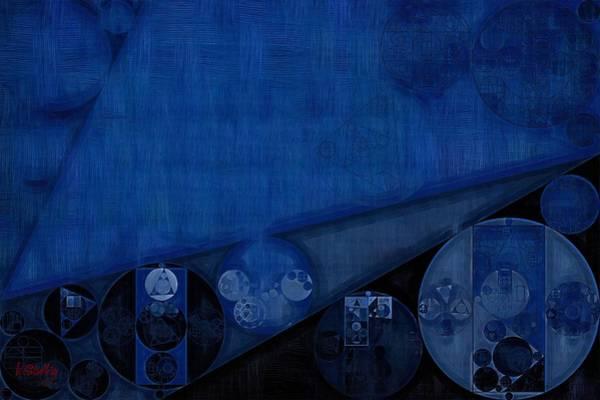 Ring Digital Art - Abstract Painting - Dark Cerulean by Vitaliy Gladkiy