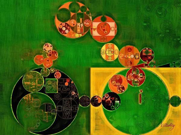 Abstraction Digital Art - Abstract Painting - Lincoln Green by Vitaliy Gladkiy