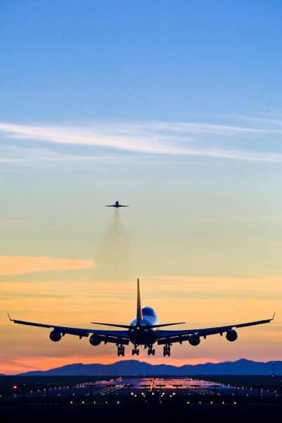 747 Photograph - Aeroplane Landing, Canada by David Nunuk