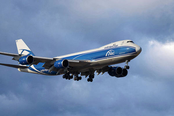 Boeing 747 Wall Art - Photograph - Air Bridge Cargo Airlines Boeing 747-8hv by Smart Aviation
