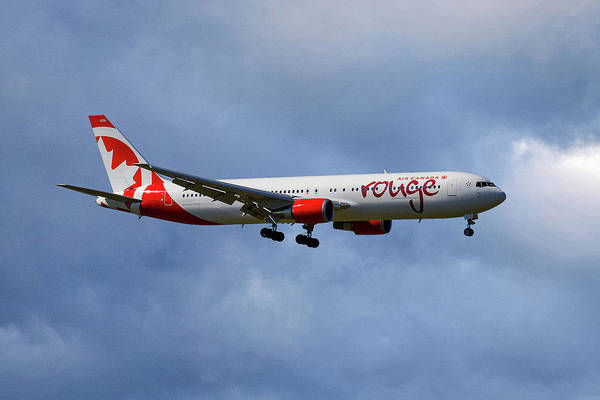Air Canada Wall Art - Photograph - Air Canada Rouge Boeing 767-35h by Smart Aviation