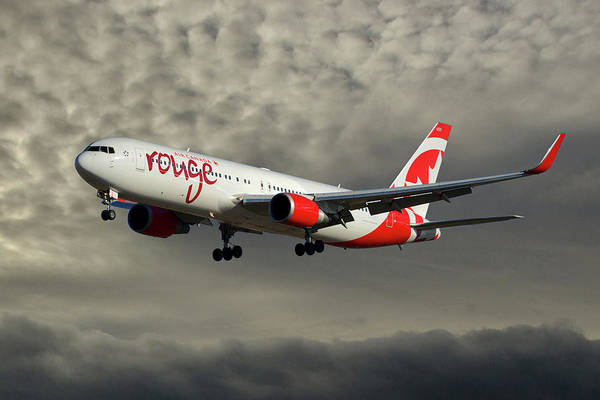 Air Canada Wall Art - Photograph - Air Canada Rouge Boeing 767-333 116 by Smart Aviation