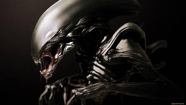 Alien Digital Art - Alien by Super Lovely