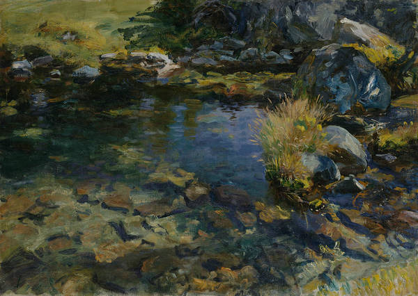 Painting - Alpine Pool by John Singer Sargent