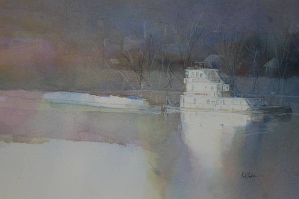 Riverboat Painting - 4 Am Mon by Robert Yonke