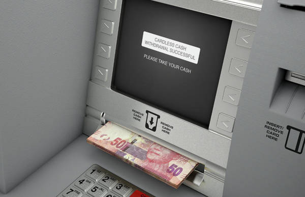 Wall Art - Digital Art - Atm Cardless Cash Withdrawal by Allan Swart