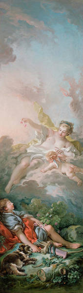 Francois Boucher Painting - Aurora And Cephalus by Francois Boucher