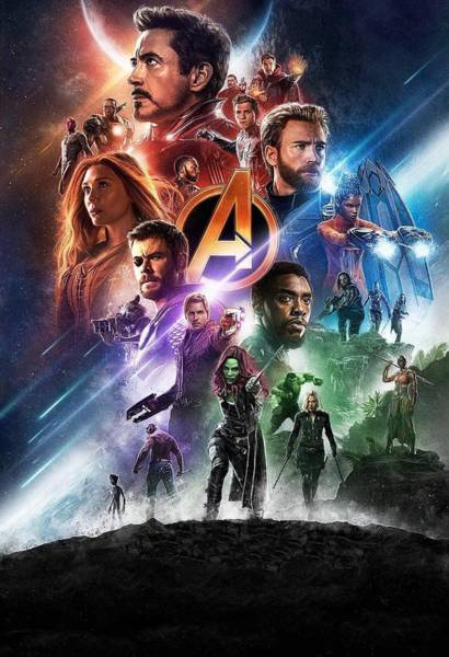 Wall Art - Digital Art - Avengers Infinity War by Geek N Rock