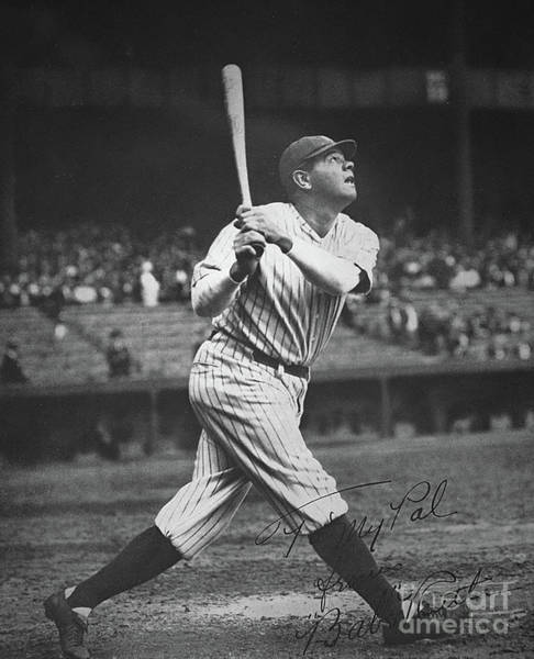 Cap Photograph - Babe Ruth  by American School