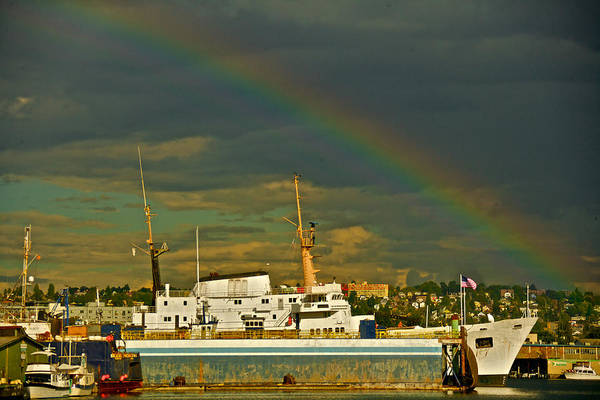 Photograph - Ballard Rainbow by Steven Lapkin