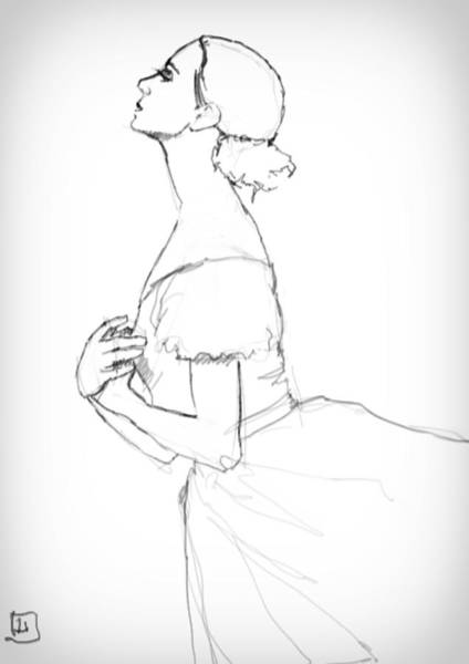 Wall Art - Drawing - Ballerina by H James Hoff