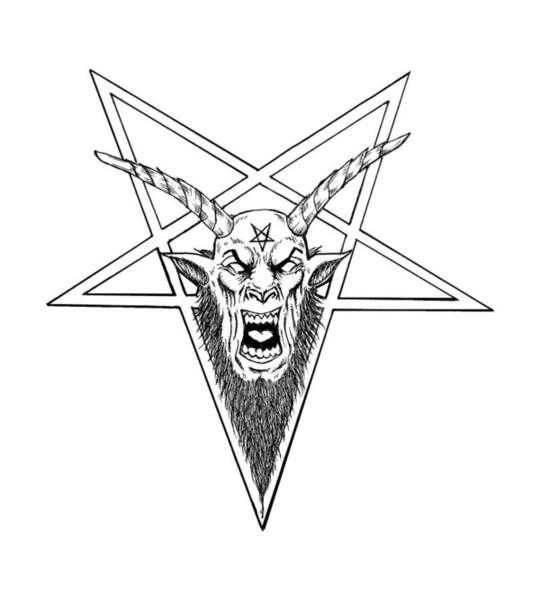 Demonic Drawing - Baphomet by Alaric Barca