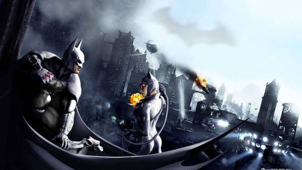 Water Digital Art - Batman by Maye Loeser